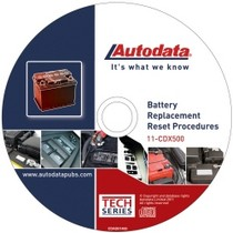 1998-2003 Toyota Sienna Autodata 2011 Battery Replacement Reset Procedure CD