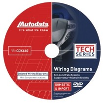1998-2003 Toyota Sienna Autodata 2011 Wiring Diagrams DVD - SRS and ABS