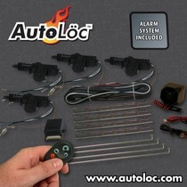 Universal (fits all vehicles) Autoloc 4 Door Power Lock Kit with Alarm