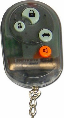 1966-1970 Ford Falcon AutoLoc 4 Button Remote Face Plate w/ Buttons (Smoke Black)