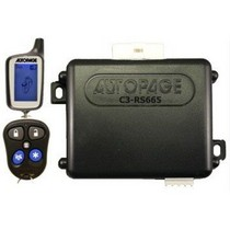 All Jeeps (Universal), All Vehicles (Universal) Autopage 2-Way 3-Ch Vehicle Security System / Car Alarm And Remote Start With One LCD Remote And Side Kick Remote