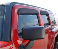 06-08 H3 4DR AVS Sunroof Deflectors - Ventvisor 4PC (Smoke)