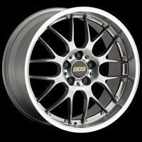 09-09 TL, 07-09 MDX, 09-09 Pilot, 05-09 Ridgeline, 08-09 CTS non-V, 03-09 Range Rover LM, 05-09 RL BBS Forged Aluminum Multi-piece RS-GT Diamond Black