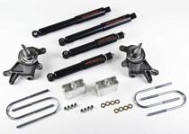 """Pair 98-03 Nissan Frontier Nitro Drop 2 Rear Shocks for 3/"""" Drop"""