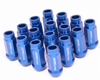 2003-9999 Honda Pilot Blackworks Racing Lug Nut - 12 x 1.5 (Blue)