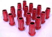 1996-1999 Ford Taurus Blackworks Racing Lug Nut - 12 x 1.5 (Red)