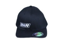 All Vehicles (Universal) Blackworks Racing Flex Fit BWR Logo Hat - Small / Medium (Black)