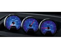 2005-2006 Lotus Elise Blitz Gauges - 60mm Racing Meter DC2 Exhaust Temperature / Tachometer (Blue)
