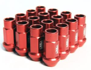 2008-9999 Ford Escape Blox Racing Street Series Forged Lug Nut - 12 x 1.5mm (Red)