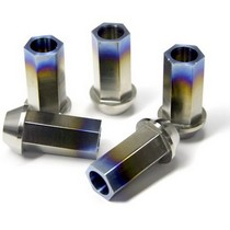 2003-9999 Honda Pilot Blox Racing Forged Titanium Lug Nut - 12x1.5mm
