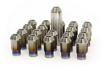 1991-1996 Saturn Sc Blox Racing 7-Sided Forged Titanium Lug Nut - 12x1.5