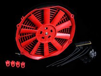 "2007-9999 Audi Q7 Blox Racing 10"" Electric Slim Fan (Red)"