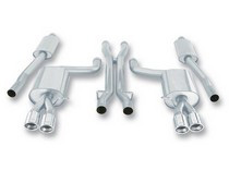 07-08 RS4 4.2L V8 AWD AT/MT 4DR Borla Stainless Steel Cat-Back Exhaust System, Pipe Diameter 2.5