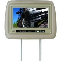 "1986-1992 Mazda RX7 Boss Universal Headrest With Pre-Installed 9.2"" Widescreen TFT Monitor (Tan)"