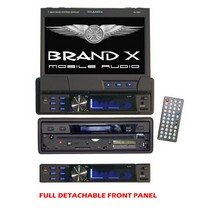 "1994-1997 Ford Thunderbird Brand-X 7"" single DIN In-Dash Motorized Touch Screen TFT/LCD Monitor with DVD/CD/MP3/MP4/USB/SD/AM/FM/RDS Receiver"