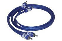 2008-9999 Jeep Liberty Brand-X 3' Foot  Blue/ White Stereo RCA Cable