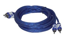 2008-9999 Jeep Liberty Brand-X 6' Foot  Blue/ White Stereo RCA Cable