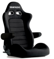 2001-2003 Honda Civic Bride Euro II Cruz Black Reclining Seat