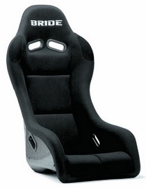 2001-2003 Honda Civic Bride Exas III Black Full Bucket Seat (Carbon Fiber Reinforced Plastic)
