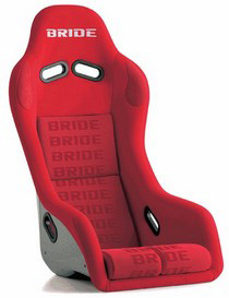2001-2003 Honda Civic Bride Exas III Red Logo Full Bucket Seat (Carbon Fiber Reinforced Plastic)