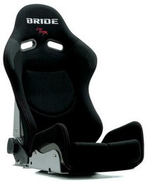 All Cars (Universal) Bride Gias II  Black Logo Low Max System Seat (Carbon Fiber Reinforced Plastic)