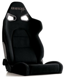 All Cars (Universal) Bride Vorga Japan Black Reclining Seat (High Quality Suede)