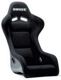 All Cars (Universal) Bride Zeta III Type-S Black Full Bucket Seat (Fiberglass Reinforced Plastic)