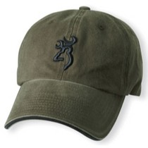 1968-1984 Saab 99 Browning Twill Cap With 3D Buckmark and Pipe Brim Olive Color