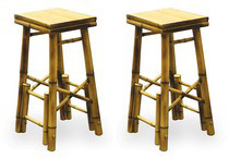 1967-1970 Pontiac Executive Buffalo Tools 2Pc Bamboo Bar Stools