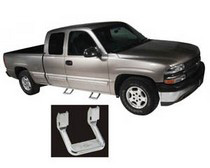 00-Up Ford Excursion (Front Only), 00-Up Nissan X-Terra (All Doors), 01-Up Ford F-150 Super Crew (All Doors), 97-Up Ford F-150 Light Duty (All Doors), 02-Up Chevrolet Avalanche 1500 (All Doors), 02-Up Dodge Ram 1500 (All Doors), 94-Up Dodge Ram 2500 / Ram3500 (All Doors), 76-93 Chevrolet Blazer, 76-93 Chevrolet S-10, 76-93 GMC Sonoma, 80-91 Toyota Land Cruiser (FJ60 / FJ62), 91-98 Toyota Land Cruiser (FJ80), 83-99 Mitsubishi Montero, 84-02 Isuzu Trooper, 84-95 Toyota 4Runner, 86-01 Nissan Pathfinder, 91-01 Ford Explorer (Excluding Eddie Bauer Edition), 91-02 Isuzu Amigo, 91-02 Isuzu Rodeo, 91-98 Toyota Landcruiser FJ80, 92-99 Chevrolet Suburban, 92-99 Chevrolet Tahoe, 92-99 GMC Yukon, 93-98 Jeep Grand Cherokee, 94-01 Dodge Ram 1500 (All Doors), 94-02 Dodge Ram 2500 / Ram 3500 (All Doors), 97-02 Ford Expedition (All Doors), 97-Up Dodge Dakota (All Doors), 98-Up Nissan Frontier (All Doors), 99-Up Chevrolet Silverado 1500 / Silverado 2500 Light Duty (All Doors), 01-Up Chevrolet Silverado 1500 / Silverado 2500 / Silverado 3500 Heavy Duty (All Doors), 99-Up Ford F-250 Super Duty (Front Only), 97-Up Ford F-250 Light Duty (All Doors), 99-Up Ford F-350 Super Duty (Front Only), 99-Up GMC Sierra 1500 / Sierra 2500 Light Duty (All Doors), 01-Up GMC Sierra 1500 / Sierra 2500 / Sierra 3500 Heavy Duty (All Doors) Bully Truck Steps - Aluminum Steps (Pair) (Chrome)