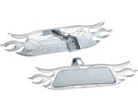 2003-2008 Nissan 350z Bully Rear View Mirrors - Billet (Flame)