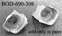 1969-1970 Mustang California Pony Cars Headlight Buckets, Left Side & Right Side (Shelby Style)