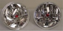 1964-1973 Mustang California Pony Cars Tri-Bar Headlamps (Red Dot)