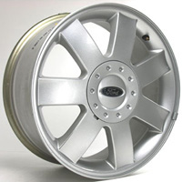 05-06 Ford Five Hundred, 05-07 Ford Freestyle Capital Factory Wheel - 17x7, 5 lug, 7-Spoke, 4-1/2 Bolt Pattern Original Silver Finish