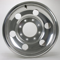 1999-2007 Ford F250 Capital Factory Wheel -  16x7, 6 Round Holes, 8-lug, 170mm Bolt Pattern Polish Finish