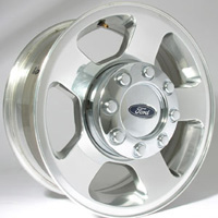 1999-2007 Ford F250 Capital Factory Wheel - 17x7-1/2, 5-spoke, 8-lug, 170mm Original Polished Wheel