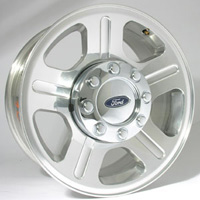 1999-2007 Ford F250 Capital Factory Wheel - 18x8, 5-spoke, 8-lug, 170mm Original Polished Wheel
