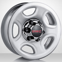 2000-2006 Chevrolet Tahoe Capital Factory Wheel - 16x6½, 5-spokes, 6-lug, 5½ bolt pattern Original Silver Steel Wheel