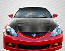Carbon Fiber Hoods For Acura Rsx At Andys Auto Sport - Acura integra carbon fiber hood