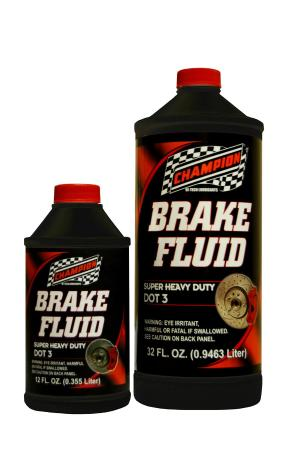All Vehicles (Universal) Champion Dot 3 Brake Fluid - 12 oz. (Case)