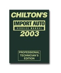 2001-2003 Honda Civic Chiltons Book Company 1999 - 2003 import Service Manual