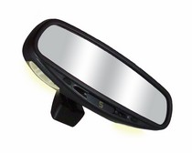 1997-2002 Mitsubishi Mirage CIPA Wedge Base Auto Dimming Rearview Mirror with Compass and Map Lights