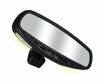 2002-2006 Mini Cooper CIPA Wedge Base Auto Dimming Rearview Mirror with Compass Temperature and Map Lights