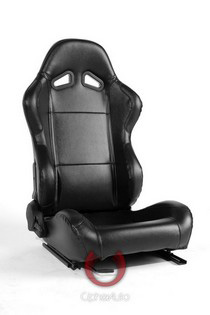 2004-2005 Honda Civic Cipher Racing Seats - Black Synthetic Leather
