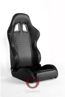 2009-9999 Hyundai Genesis Cipher Racing Seats - Black Carbon Fiber PVC