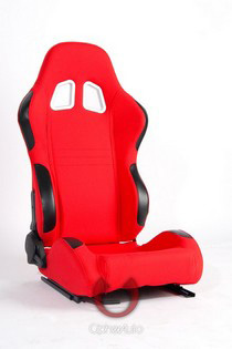 2004-2005 Honda Civic Cipher Racing Seats - Red Cloth