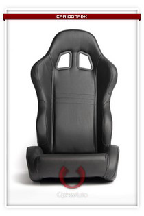 2009-9999 Hyundai Genesis Cipher Racing Seats - Black PVC