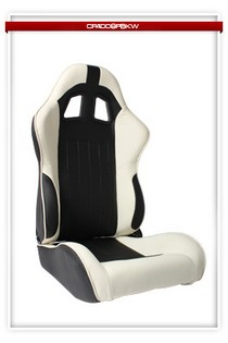 2000-2006 BMW M3 Cipher Racing Seats - Black/White Synthetic Leather