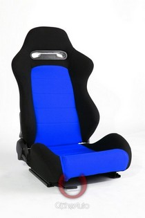 1990-1991 Lexus ES250 Cipher Racing Seats - Black and Blue Cloth