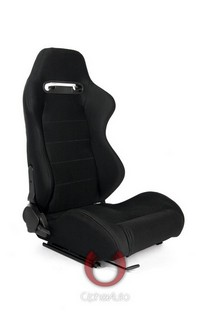 1998-2000 Nissan Frontier Cipher Racing Seats - Black with Outer Grey Stitching